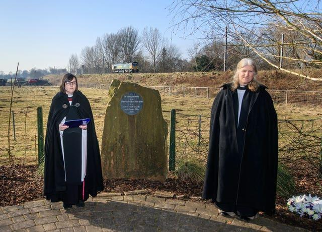 Service takes place at the Great Heck Rail Disaster Memorial Garden near Selby in North Yorkshire