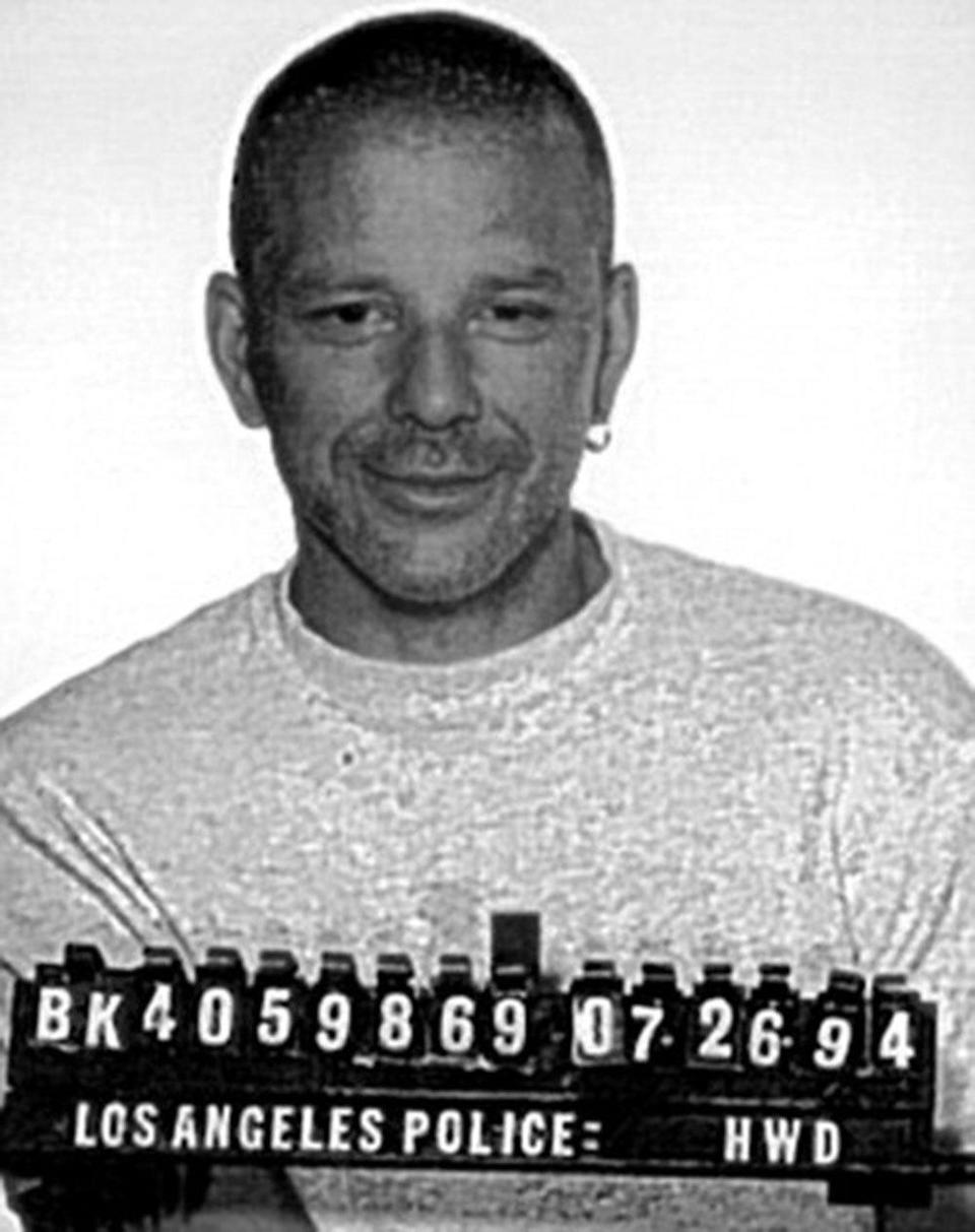 Mickey Rourke The star (who doesn't look like this anymore) has been hauled in front of a police Polaroid a few times. Antics include spouse abuse (charges were dropped) and DUI.