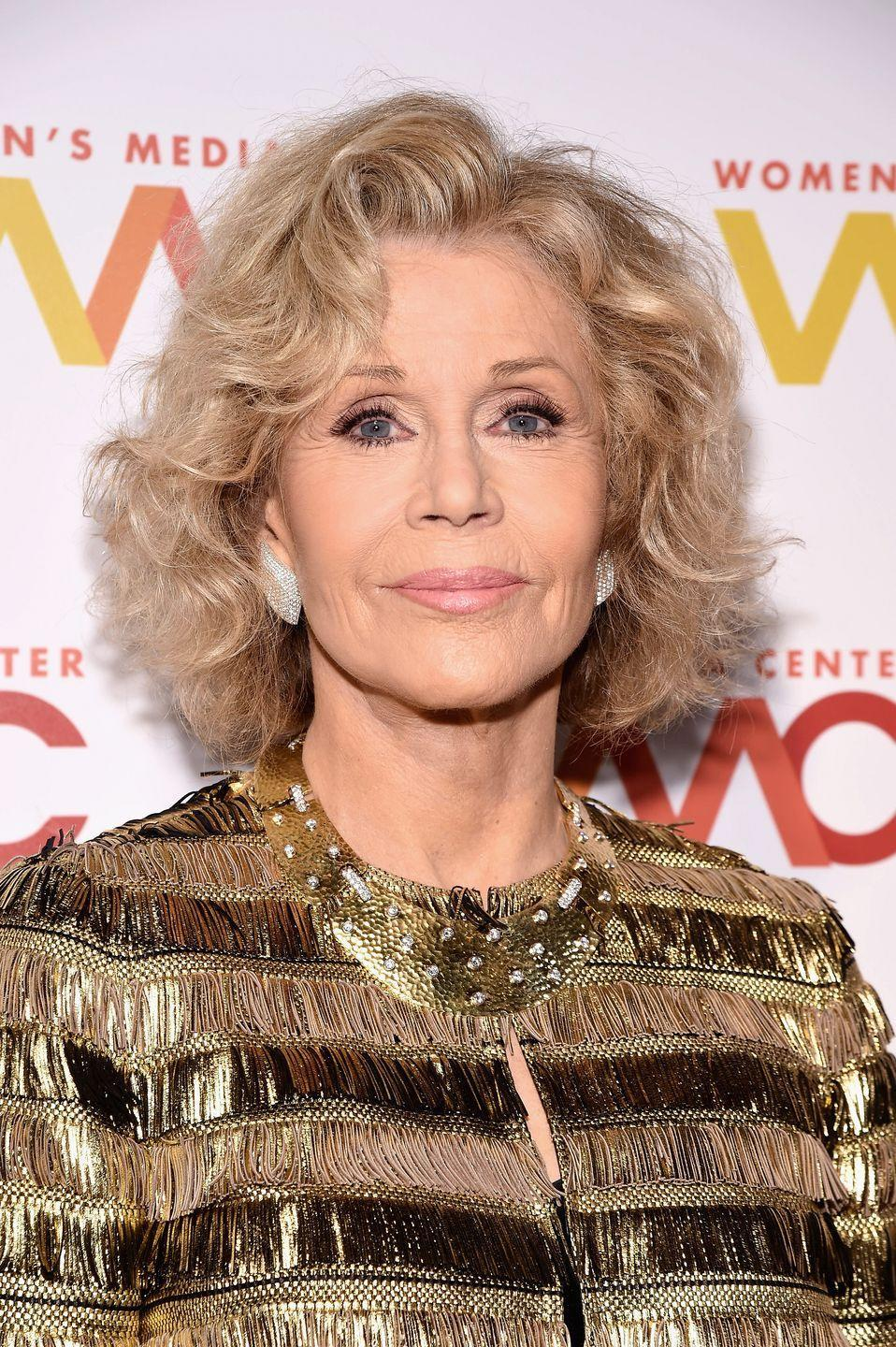 <p>Just a hair deeper than grey, this ash blonde on <strong>Jane Fonda</strong> is an incredible option if you're not yet ready to embrace fully silver strands. </p>