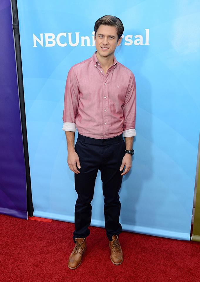 "Aaron Tveit attends NBCUniversal's ""2013 Winter TCA Tour"" Day 2 at Langham Hotel on January 7, 2013 in Pasadena, California."