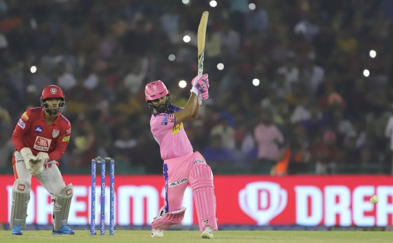 Rahul Tripathi of Rajasthan Royals bats during match 32 of the Vivo Indian Premier League Season 12, 2019 between the Kings XI Punjab and the Rajasthan Royals held at the IS Bindra Stadium, Mohali on the 16th April 2019 Photo by: Deepak Malik /SPORTZPICS for BCCI