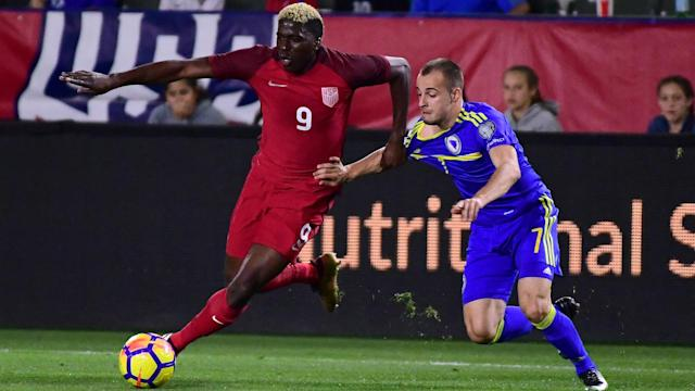 What good did it do U.S. Soccer to play Gyasi Zardes (9) and other older starters against Bosnia and Herzegovina? (Omnisport)
