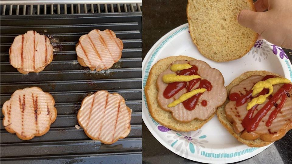 round hot dogs