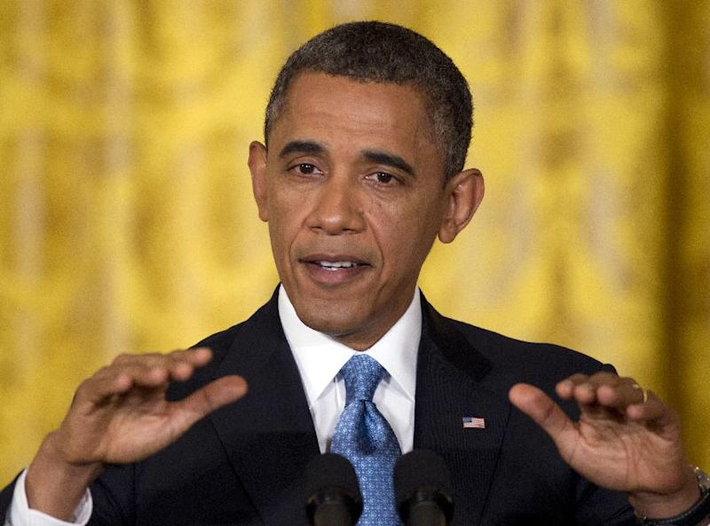 President Barack Obama speaks during his final news conference of his first term in the East Room of the White House in Washington, Monday, Jan. 14, 2013. (AP Photo/Carolyn Kaster)