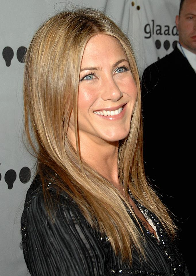 Jennifer Aniston during 18th Annual GLAAD Media Awards - Arrivals at Kodak Theatre in Hollywood, California, United States. (Photo by Jon Kopaloff/FilmMagic for Variety Magazine)