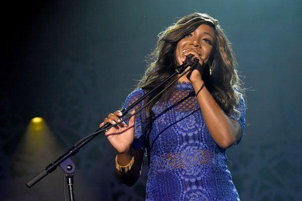 Singer-songwriter Mickey Guyton performs onstage at the Innovation In Music Awards