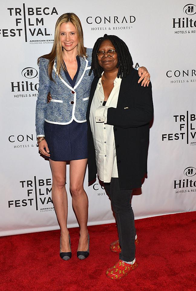 Mira Sorvino and Whoopi Goldberg attend the TFF Awards Night during the 2013 Tribeca Film Festival on April 25, 2013 in New York City.