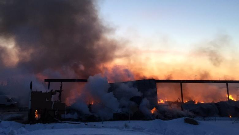 Arson investigation after Mother Wood Timber Mart burns in Happy Valley-Goose Bay