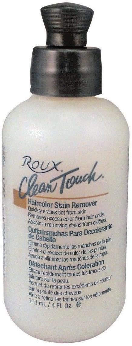 Apply Roux's Clean Touch remover to tinted skin and rinse off to remove any stains to your scalp and hairline.