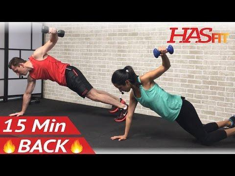 """<p>With modifications for beginners, this is a great entry-level workout for those looking to build strength through their entire back. </p><p><strong>Equipment:</strong> Dumbbells</p><p><strong>How long? </strong>15 minutes</p><p><a href=""""https://www.youtube.com/watch?v=jsPNaj6xkqA&ab_channel=HASfit"""" rel=""""nofollow noopener"""" target=""""_blank"""" data-ylk=""""slk:See the original post on Youtube"""" class=""""link rapid-noclick-resp"""">See the original post on Youtube</a></p>"""