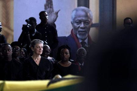Dignitaries pay their respects to former UN Secretary General Kofi Annan ahead of his state funeral in Accra