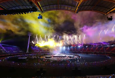 Gold Coast 2018 Commonwealth Games - Closing ceremony - Carrara Stadium - Gold Coast, Australia - April 15, 2018 - General view of the closing ceremony. REUTERS/David Gray