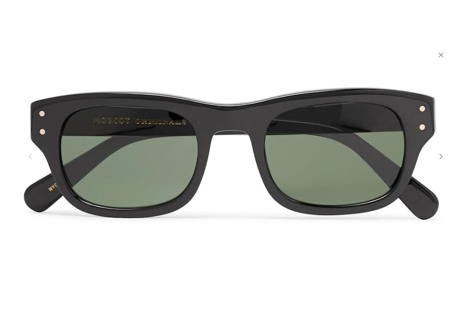 """Sometimes all it takes is the right pair of black sunglasses to take your fit from regular to red carpet-ready, and Moscot has been making those exact shades for decades now.<br> <br> <em>Moscot Nebb square-frame acetate sunglasses</em> $300, Moscot. <a href=""""https://www.mrporter.com/en-us/mens/product/moscot/accessories/square-frame/nebb-square-frame-acetate-sunglasses/3607804572338054"""" rel=""""nofollow noopener"""" target=""""_blank"""" data-ylk=""""slk:Get it now!"""" class=""""link rapid-noclick-resp"""">Get it now!</a>"""
