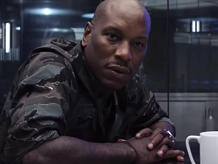 """Tyrese Gibson as Roman Pearce in """"The Fate of the Furious."""""""