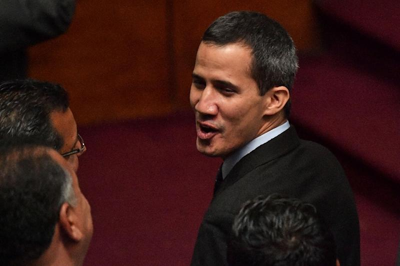 Juan Guaido, head of Venezuela's National Assembly head, is pushing for the removal of President Nicolas Maduro (AFP Photo/Yuri CORTEZ)