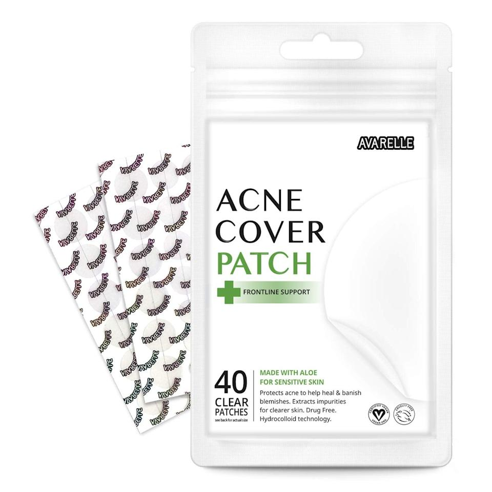 <p>Handle your breakouts without picking at your skin with the <span>Avarelle Acne Cover Patch Frontline Support Hydrocolloid</span> ($13).</p>