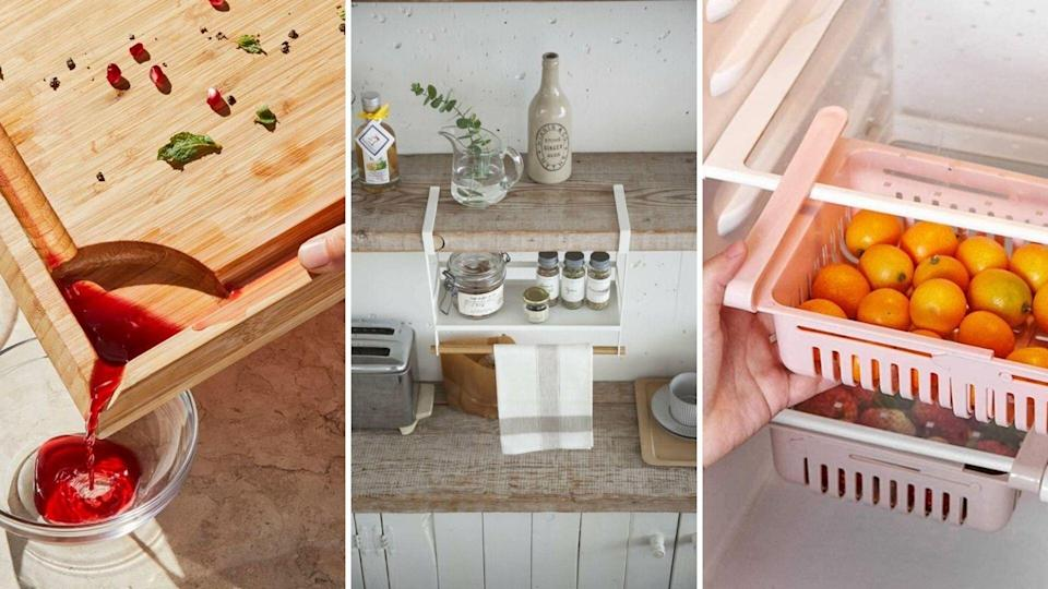 These damn-near brilliant kitchen hacks will make you love your kitchen just a little bit more. (HuffPost Finds)