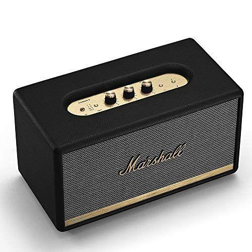 """<p><strong>Marshall</strong></p><p>amazon.com</p><p><strong>$340.55</strong></p><p><a href=""""https://www.amazon.com/dp/B07H7DRWJN?tag=syn-yahoo-20&ascsubtag=%5Bartid%7C2140.g.25752244%5Bsrc%7Cyahoo-us"""" rel=""""nofollow noopener"""" target=""""_blank"""" data-ylk=""""slk:Shop Now"""" class=""""link rapid-noclick-resp"""">Shop Now</a></p><p>This classic beauty even pairs with Alexa.</p>"""