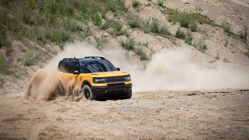 2021 Ford Bronco Sport driving off-road