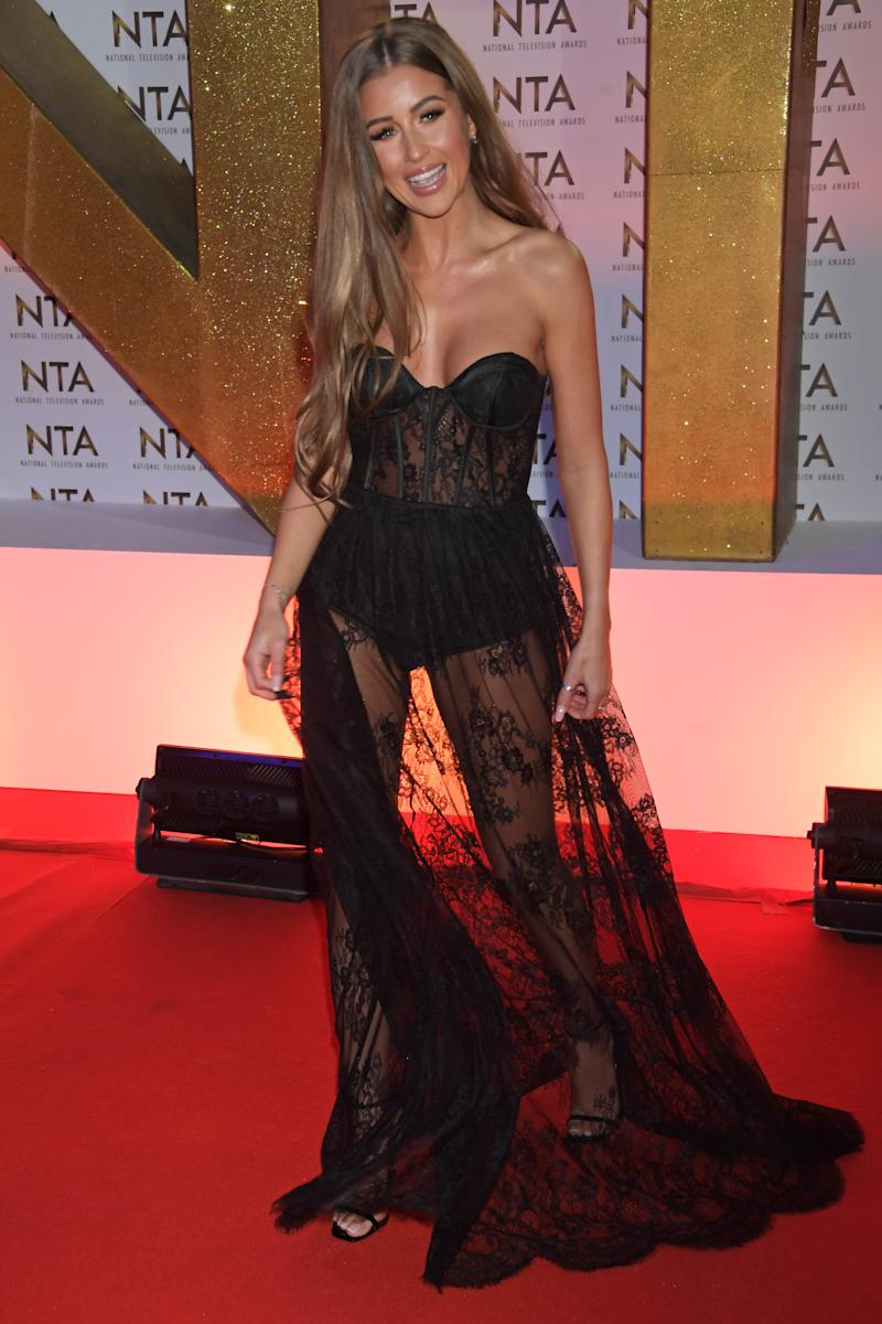 Georgia Steel attends the National Television Awards 2020 at The O2 Arena on January 28, 2020 in London, England.