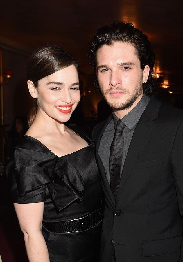 Kit and Emilia have opened up about filming their steamy sex scene! Source: Getty