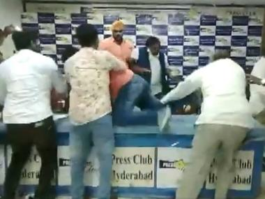 Dalit body president attacked in Hyderabad during presser on alleged irregularities at Telangana gurukuls