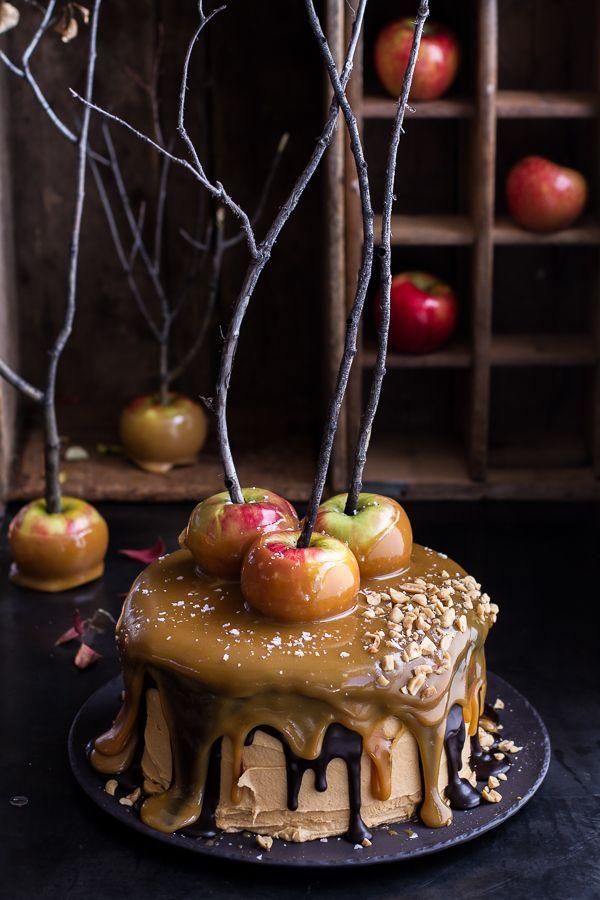 """<p>Delicious caramel """"slime"""" is the key to this gorgeous and gooey cake. </p><p><strong>Get the recipe at <a href=""""http://www.halfbakedharvest.com/salted-caramel-apple-snickers-cake/"""" rel=""""nofollow noopener"""" target=""""_blank"""" data-ylk=""""slk:Half Baked Harvest"""" class=""""link rapid-noclick-resp"""">Half Baked Harvest</a>.</strong> </p>"""