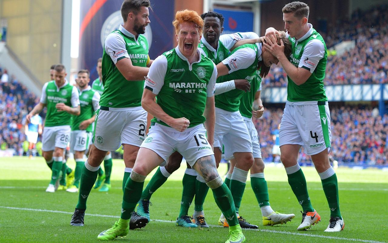 "We are only two instalments into the Scottish title race but significant themes and contrasts are already emerging. Celtic have extended last season's unimpeachable form into the current campaign, Rangers remain accident prone under Pedro Caixinha and St Johnstone continue to punch above their weight under Tommy Wright. Hibernian's win at Ibrox gives early impetus to Neil Lennon's claim that his players can finish in or around the top three, while Aberdeen's demonstration of grit in Dingwall, where they came from behind to beat Ross County, is evidence of the resolve that saw them to second place last time out. And a former England manager – Steve McLaren, who is set to talk with the Tynecastle board this week – could be in charge of Hearts away to Rangers on Saturday. Hearts, currently under the caretaker stewardship of Jon Daly, will be without a serviceable stadium until the reconstruction of the Tynecastle main stand is completed in November, but they shared common ground with Kilmarnock going into their weekend fixture at Rugby Park. Both sides had suffered heavy defeats by Celtic prior to their meeting in Ayrshire, Hearts losing 4-1 in their league opener at Parkhead and Kilmarnock being battered 5-0 by what was virtually a second-string Celtic side in the Scottish League Cup last Tuesday.    During the brief and ill-starred reign of Ian Cathro, Hearts were frequently guilty of football without menace. Daly has supervised a more direct approach more suitable for forwards like Esmael Goncalves and summer signing, Kyle Lafferty. These two were faced by two of Kilmarnock's close-season acquisitions, Gordon Greer and Kirk Broadfoot. After only five minutes the Kilmarnock pair produced a Red Sea impersonation to leave a wide gap which Goncalves romped through to beat Jamie MacDonald with a cool finish. That was the single goal of the afternoon but only because MacDonald showed his centre backs how to make a decisive interception when Goncalves again romped through the middle only to be blocked by the goalkeeper who had bolted 22 yards off his line to deal with the menace. British players who failed to make an impact in foreign football After the break Goncalves and Lafferty both had unchecked chances but the Portuguese striker placed his straight into MacDonald's hands and his Northern Irish colleague provoked scorn amongst the Hearts support by missing the ball with a wild swipe. The spectacle then moved from kicking air to pulling hair when Goncalves clashed with Broadfoot and had his barnet tugged as the pair went to ground. Broadfoot was sent off for his tonsorial assault and Goncalves dismissed for his reaction. Kilmarnock will now be without the ex-Rangers defender when they host Celtic at the weekend and it bodes ill for the Ayrshire men that, having conceded early against Hearts, they will face a Hoops side known for coming out of the blocks at full pace. ""You can't start like that against anyone. You don't want to concede an early goal at home,"" said Chris Burke, the Kimarnock winger. ""It was disappointing because we were doing well until that moment, but he way we have started will not define our season."" Hearts' next fixture is against the other half of the Old Firm at Ibrox, where their city rivals departed with bragging rights - and a helping of seemingly inevitable controversy – after a 3-2 win in a contest which saw the Rangers backroom team complain to the police about Neil Lennon and to the media about referee John Beaton. Both the home and Hibs supports were in fervent mood but the contest seemed to be moving in Rangers' favour after Alfredo Morales' third minute headed opener and a Kenny Miller effort which came off the post. Simon Murray, however, equalised with Hibs' first attempt on goal, prompting Lennon – a firm favourite for excoriation amongst the Rangers faithful – to direct an arm-pumping gesture towards them, after which Helder Baptista, the Ibrox assistant manager, spoke to the nearest police officer. The atmosphere became even more rancorous when the Rangers midfielder, Ryan Jack, was sent off for a square-up with Anthony Stokes. Hibs moved into a 3-1 lead through an own goal by James Tavernier and a fine half-volley from Vykintas Slivka. Tavernier reduced the deficit with a late goal but Rangers could get no more from the contest. Afterwards, Caixinha was critical of the referee, who booked Dylan McGeouch for his part in the Jack/Stokes melee but allowed the Hibs man to go unpunished for a bad challenge on Eduardo Herrera. The Rangers coach was less forthcoming about his team's persistent defensive errors. Caixinha had a plausible case for grievance at the weekend, but his rap sheet now includes a historically severe battering at home by Celtic, a home loss to Aberdeen, dismissal from Europe by the infinitesimal Proges Niederkorn and defeat by newly promoted Hibs. Even at this nascent stage of the season, a setback against Hearts would surely prompt mutinous expression amongst the Rangers support. £250,000 up for grabs: pick your Telegraph Fantasy Football team today >>"