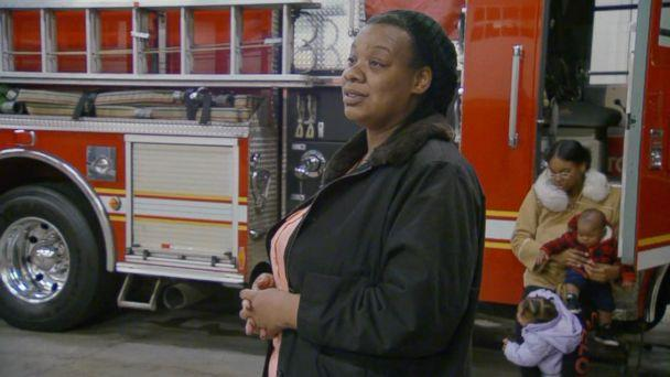 PHOTO: Djuana Nelson discusses how reuniting with the firefighter who helped save the life of her daughter Destiny Nelson has helped her family 'heal' in an interview with ABC News. (ABC News)