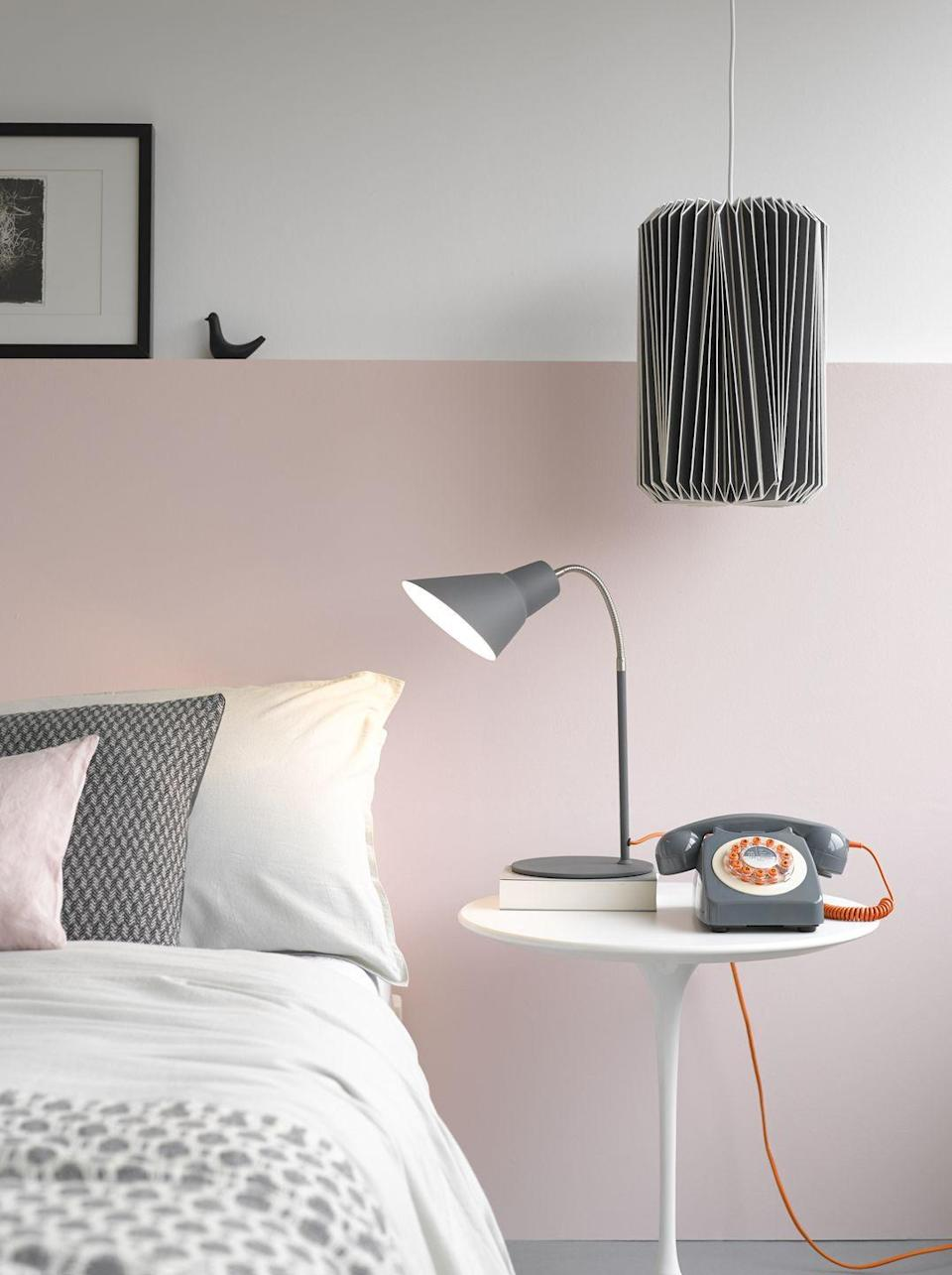 """<p>A pink and grey bedroom combination is perfect, especially when you choose to bring in grey through accessories. From a desk lamp to scatter cushions, there are lots of ways you can tap into this calming palette. </p><p>• Shop the look at <a href=""""https://go.redirectingat.com?id=127X1599956&url=https%3A%2F%2Fwww.cuckooland.com%2F&sref=https%3A%2F%2Fwww.housebeautiful.com%2Fuk%2Fdecorate%2Fbedroom%2Fg37103497%2Fpink-grey-bedroom%2F"""" rel=""""nofollow noopener"""" target=""""_blank"""" data-ylk=""""slk:Cuckooland"""" class=""""link rapid-noclick-resp"""">Cuckooland</a></p>"""