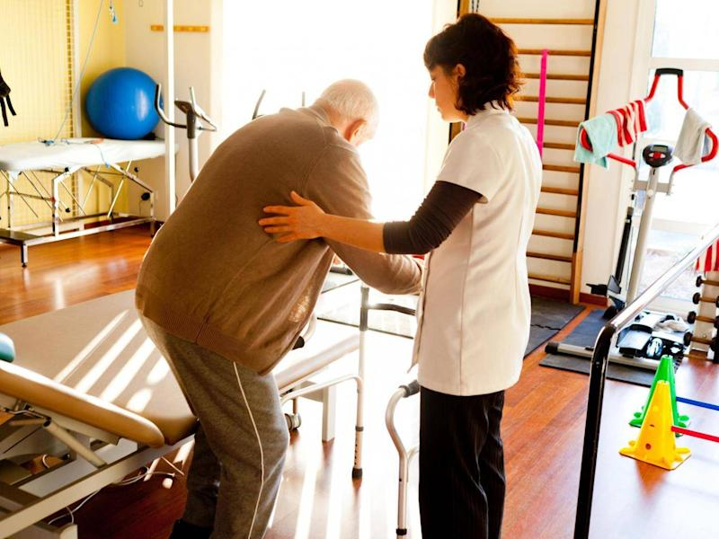 Physiotherapy is patchy for elderly people after a fall, an audit found (Rex)