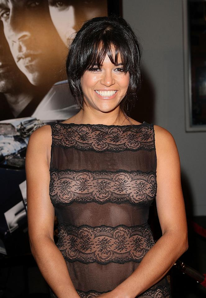 """<a href=""""http://movies.yahoo.com/movie/contributor/1800354386"""">Michelle Rodriguez</a> at the Los Angeles premiere of <a href=""""http://movies.yahoo.com/movie/1809989992/info"""">Fast & Furious</a> - 03/12/2009"""