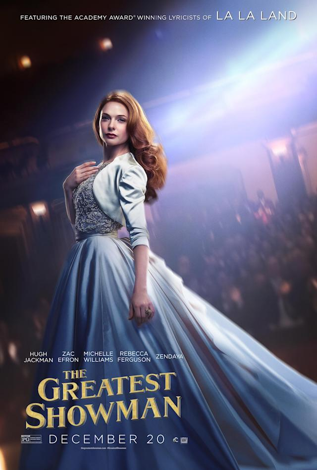<p>Rebecca Ferguson plays Jenny Lind, a famous singer who helps Barnum reach a new audience.<br>(Image: 20th Century Fox) </p>