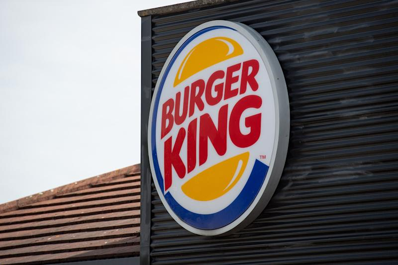 A sign for a Burger King drive thru restaurant. The fast food chain has announced that they are removing all plastic toys from its children's meals served in the UK from Thursday to save an estimated 320 tonnes of waste annually.