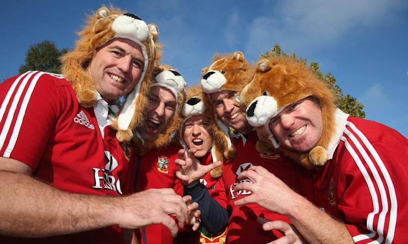 Lions fans in Melbourne on the 2013 tour of Australia. 35,000 are expected to travel to New Zealand this summer, and the hotel industry is feeling the strain.