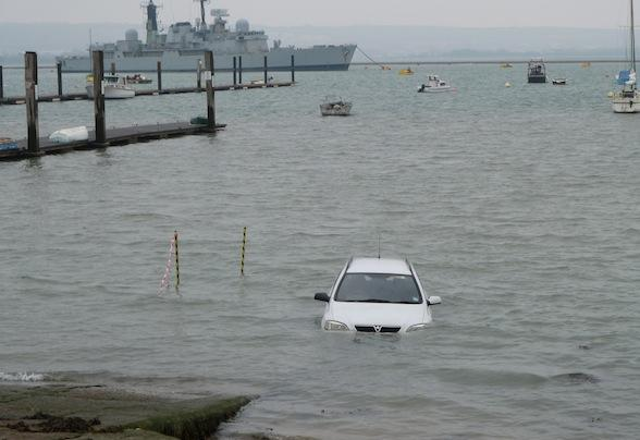 Bungled boat launch sees meet watery maker