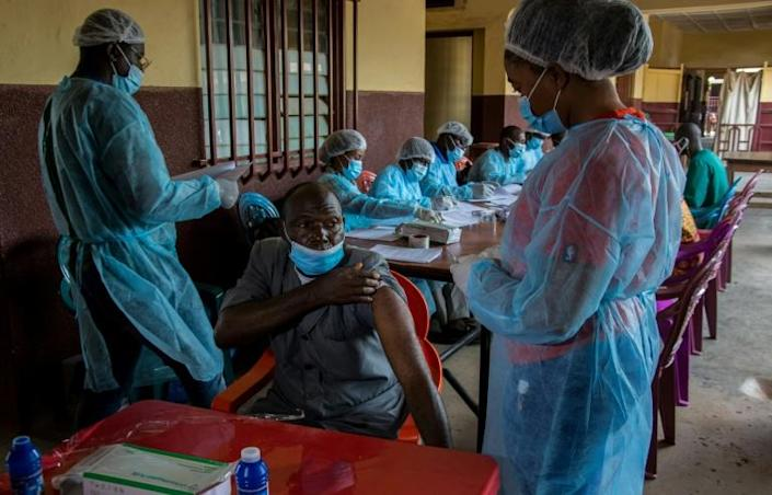 Guinea began a new round of Ebola vaccinations this year after an outbreak of the virus that research found stemmed from a survivor (AFP/CAROL VALADE)