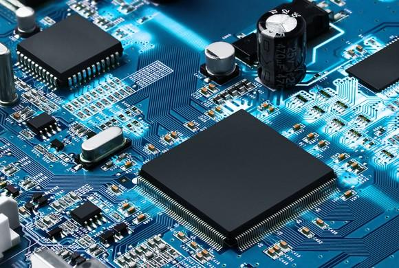 Semiconductors on a circuit board