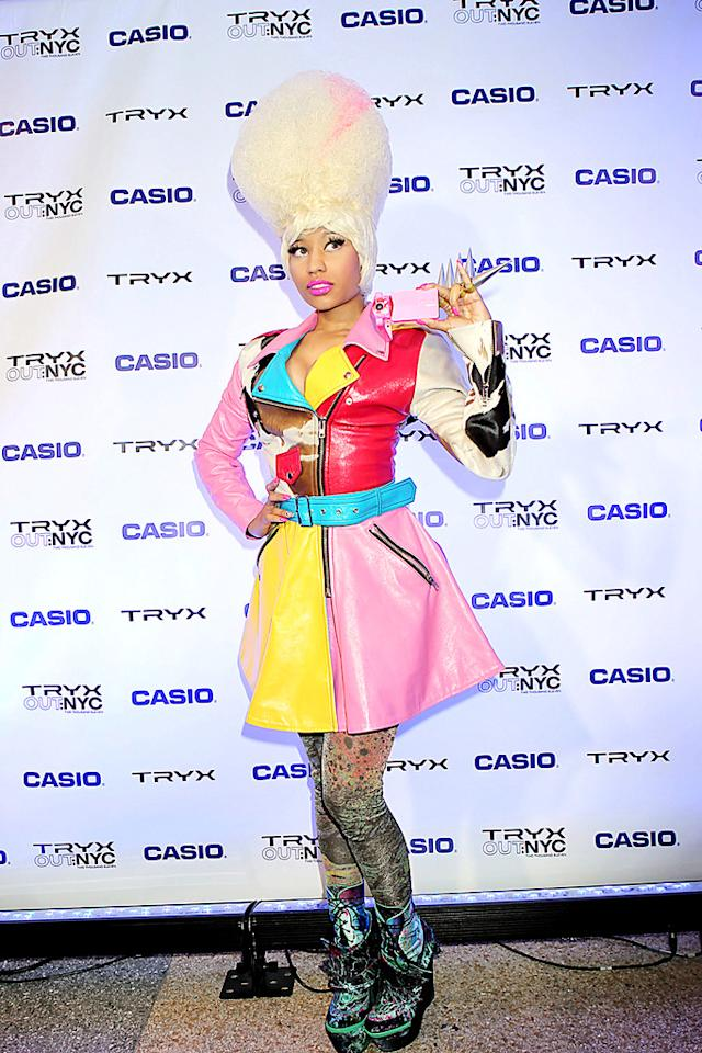 """Perhaps it's us, but -- just like Lady Gaga -- we're starting to tire of Nicki Minaj's garish getups and sky-high hair. Dear Nicki, when people talk more about your questionable sense of style and less about your music, you should be concerned. XOXO, omg! JGM/<a href=""""http://www.pacificcoastnews.com/"""" target=""""new"""">PacificCoastNews.com</a> - April 7, 2011"""