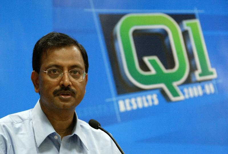 Then chairman of India's Satyam Computer Services Limited Ramalinga Raju, pictured in 2008 (AFP Photo/Noah Seelam)