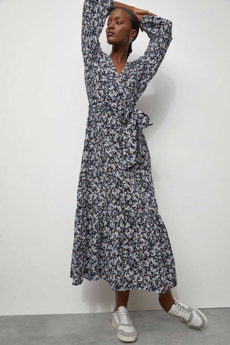 <p>This beautiful <span>H&amp;M Long Wrap Dress</span> ($35) is a great deal.</p>