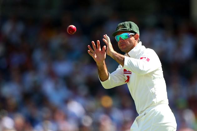 Ricky Ponting of Australia fields the ball during day two of the Third Test Match between Australia and South Africa at WACA on December 1, 2012 in Perth, Australia.  (Photo by Paul Kane/Getty Images)