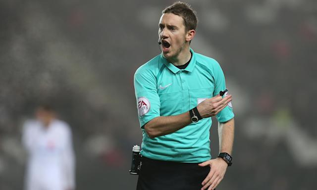 The referee Ben Toner will take charge of a League Two match rather than Blackpool's game at home to Portsmouth.