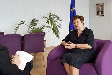 European Budget and Human Resources Commissioner Kristalina Georgieva talks during an interview with Reuters at the EU Commission headquarters in Brussels, Belgium, July 22, 2016. REUTERS/Clement Rossignol