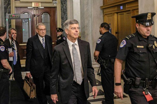PHOTO: Bill Taylor, the top U.S. Diplomat to Ukraine, leaves Capitol Hill on Oct. 22, 2019, in Washington, D.C. (Alex Wroblewski/Getty Images)