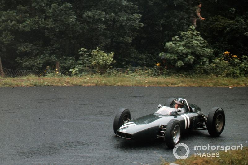 "27: Graham Hill, BRM P57<span class=""copyright"">LAT Images</span>"