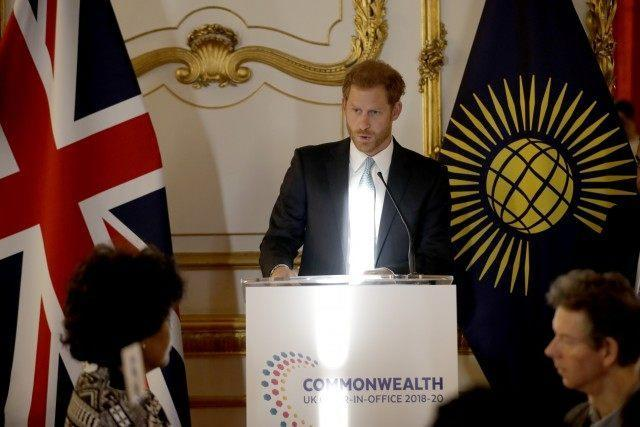 The Duke of Sussex addressed the crowd at the Commonwealth Youth Roundtable on Wednesday.