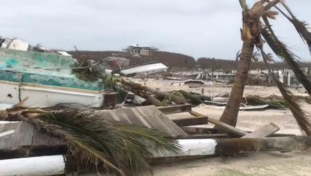 Debris and damage in the aftermath of Hurricane Dorian is seen in Hope Town, Elbow Cay, Abaco Islands, Bahamas