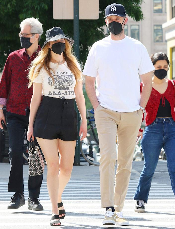 <p>Jennifer Lawrence and husband Cooke Maroney head out to have lunch in N.Y.C.'s Soho neighborhood on Sunday.</p>