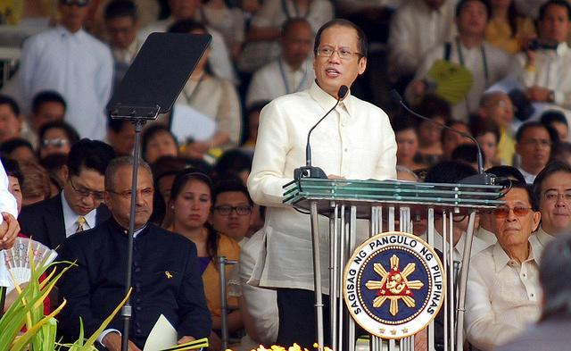 "President Benigno ""Noynoy"" Aquino III delivers his inaugural speech before an estimated half-a-million Filipinos who witnessed his inauguration at the Quirino Grandstand in Manila, Philippines on June 30, 2010. (Jerome Ascano/NPPA Images)"